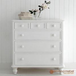 Nakas Minimalis 6 Laci, Nakas Minimalis 6 Laci duco putih, mebel ukir jati, mebel jepara, furniture jepara, permana mebel jepara