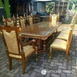 Set Meja Makan Ukir Jati, Kursi makan jati, jual set meja makan, harga kursi makan jepara, kursi makan ukir jati murah, mebel ukir jati, kursi makan raja, furniture indonesia, furniture jepara, mebel jepara, permana mebel jepara