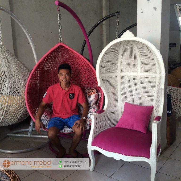 Jual Ayunan Kursi Gantung Rotan Model Terbaru Furniture Rotan Sintetis